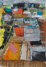 Allotments 4, mixed media, 28 x 20cm © Lel Blair
