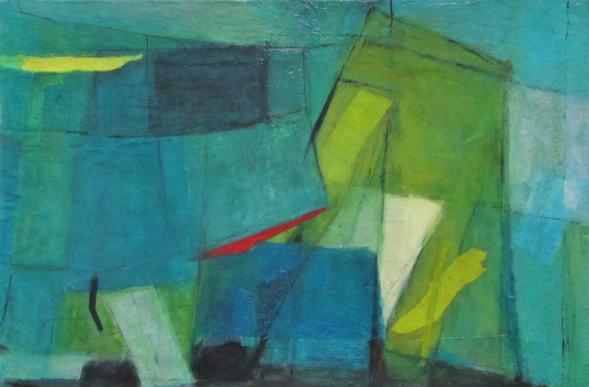 Blue Sheets, mixed media, 90 x 63 © Lel Blair