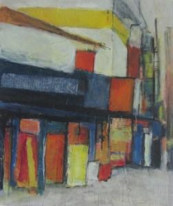 India Shops, mixed media, 37 x 30cm © Lel Blair
